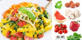 omleta cu legume colorate